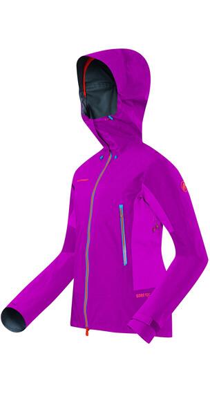 Mammut W's Mittellegi Pro HS Hooded Jacket dark pink-pink
